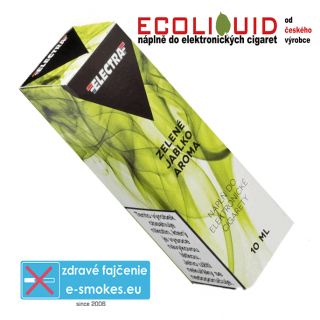 e-liquid Electra GREEN APPLE (ZELENÉ JABLKO) 10ml 3mg