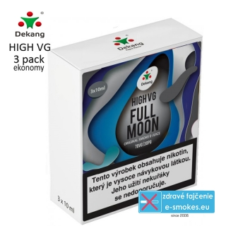 Dekang High VG 3Pack Full Moon 3x10ml 1,5mg