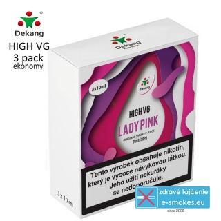 Dekang High VG 3Pack Lady Pink 3x10ml 1,5mg