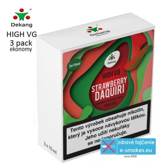 Dekang High VG 3Pack Strawberry Daquiri 3x10ml 1,5mg