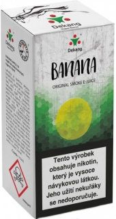 e-liquid Dekang Banana 10ml - 3mg (Banán)