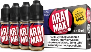 ARAMAX 4Pack Classic Tobacco 4x10ml 12mg