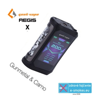 GeekVape mod grip AEGIS X TC 200W - Gunmetal and Camo