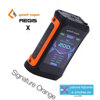 GeekVape mod grip AEGIS X TC 200W - Signature Orange