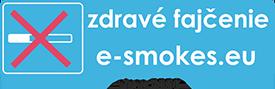 logo elektronické cigarety zdravé fajčenie